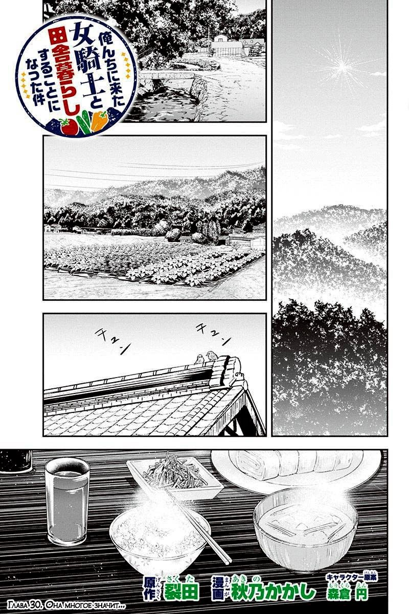 Манга Моя жизнь в сельской местности с девушкой-рыцарем из другого мира - Глава 30 Страница 1